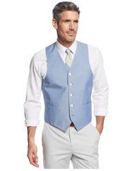 Lauren by Ralph Lauren - Blue Chambray Vest for Men - Lyst