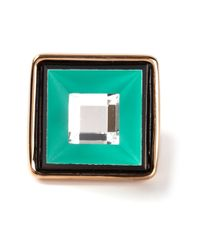 Marc By Marc Jacobs | Green Square Face Ring | Lyst