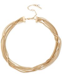 Kenneth Cole | Metallic Gold-tone Snake Multi-chain Necklace | Lyst