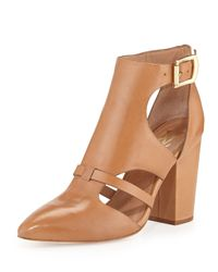Vc Signature - Brown Velmah Point Toe Leather Bootie Camel 7 12 - Lyst