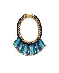 Bex Rox Blue Mini Short Beaded Maasai Necklace - Turquoise