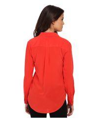 Equipment - Red Slim Signature Blouse - Lyst