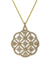 Effy | Metallic Diamond And 14k Yellow Gold Pendant Necklace, 2.08 Tcw | Lyst