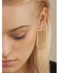 Danielle Foster | Metallic Gold Long 'd' Earring | Lyst
