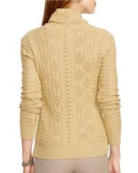 Lauren by Ralph Lauren | Petite Metallic Wool-cashmere Sweater | Lyst