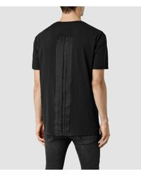 AllSaints | Black Scripture Crew T-shirt for Men | Lyst