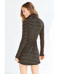 BDG - Black Kaylyn Ribbed Turtleneck Dress - Lyst