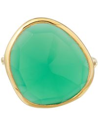 Monica Vinader Metallic Large Green Onyx Siren Ring