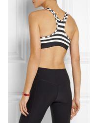 Nike Black Pro Classic Dri-Fit Striped Stretch-Jersey Sports Bra
