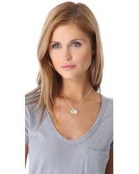 Helen Ficalora - Metallic Cutout Star Charm - Silver - Lyst