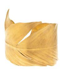 Yumeko Yamada | Metallic Feather Arm Cuff | Lyst