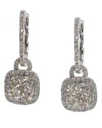 Effy | Metallic Bouquet Diamond And 14k White Gold Drop Earrings, 1.21tcw | Lyst