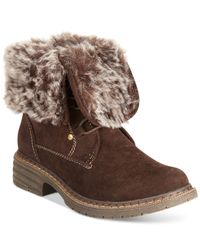 Wanted - Brown Stout Faux-fur Hiker Booties - Lyst