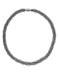 John Lewis - Black Mini Crystals Twisted Necklace - Lyst