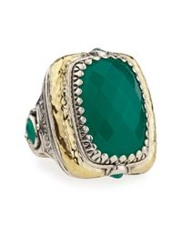 Konstantino Green Onyx Ring Size 7