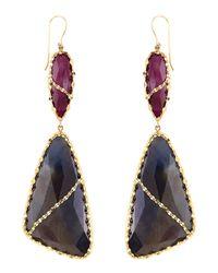 Lana Jewelry | Blue 14K Femme Sapphire Earrings | Lyst