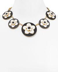 kate spade new york Multicolor Mod Floral Statement Necklace 18