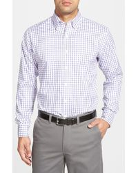 Peter Millar | Multicolor 'nanoluxe' Regular Fit Wrinkle Free Tattersall Twill Sport Shirt for Men | Lyst