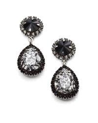DANNIJO Black Monaco Crystal Drop Earrings
