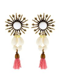 Isabel Marant Pink Mild Star Tassel Drop Earrings