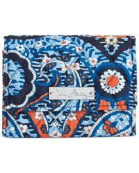 Vera Bradley Blue Small Trifold Wallet