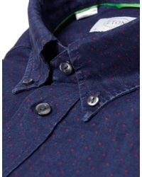 Eton of Sweden - Blue Polka Dot Linen Blend Shirt for Men - Lyst