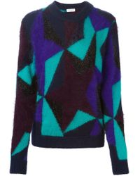 Vionnet | Purple Star Intarsia Sweater | Lyst