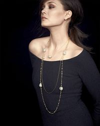 Mizuki 14k Gold Diamond Leaf & White Pearl Necklace