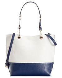 Calvin Klein Blue Reversible Tote With Pouch