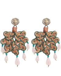 Anna E Alex | Pink Jute Foglia Braided Drop Earrings | Lyst
