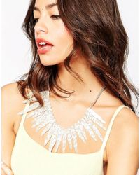 Tatty Devine - White Icicles Statement Necklace - Lyst