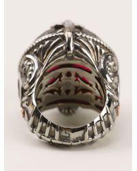 Stephen Webster - Metallic Fish Skeleton Round Ring - Lyst