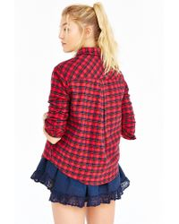 BDG Red Louie Flannel Shirt