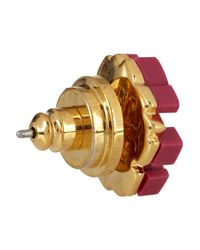 Tory Burch - Metallic Goldtone Enamel Earrings - Lyst