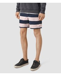 AllSaints | Pink Spinnaker Swimshort for Men | Lyst
