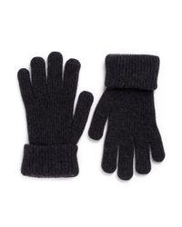 Merola Gloves Gray Cashmere Knit Gloves