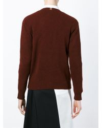 Paul by Paul Smith - Red V-neck Cardigan - Lyst