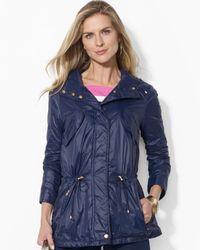 Ralph Lauren | Blue Lauren Petites Lightweight Nylon Jacket | Lyst