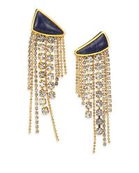 Lizzie Fortunato | Metallic Blue Moon Quartzite Tassel Drop Earrings | Lyst