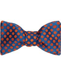 Duchamp - Blue Polka Dot Silk Jacquard Bow Tie for Men - Lyst