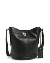 Marc By Marc Jacobs | Black 'c-lock' Leather Bucket Bag | Lyst