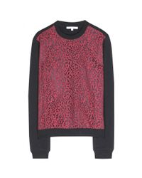Carven Multicolor Lace Sweater