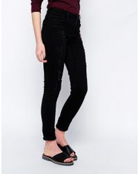 Vero Moda | Black Wonder Skinny Destroy Jeggings | Lyst