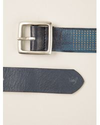 HTC Hollywood Trading Company Blue Buckle Belt for men