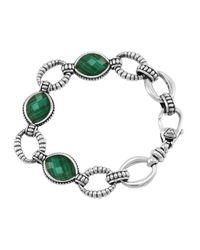Lagos - Metallic Venus Malachite Link Bracelet - Lyst