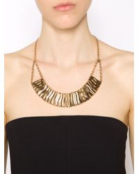 Rebecca | Metallic Wavy Necklace With Crystals | Lyst