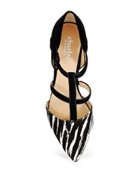 Charles by Charles David | Black Pano Strappy Heels | Lyst