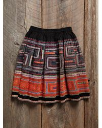Free People - Multicolor Vintage Embroidered Skirt - Lyst