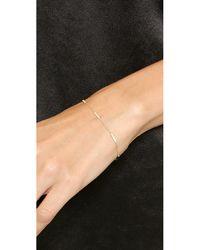 Jennifer Meyer Metallic Diamond Bar Bracelet - Gold/Clear