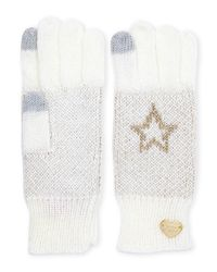 Betsey Johnson | White Starstruck Tech Gloves | Lyst